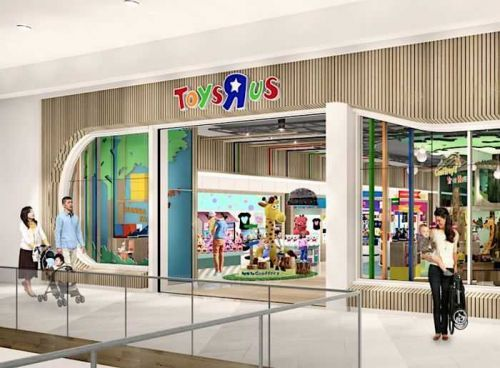 Geoffrey's back! Toys R Us reopens first store