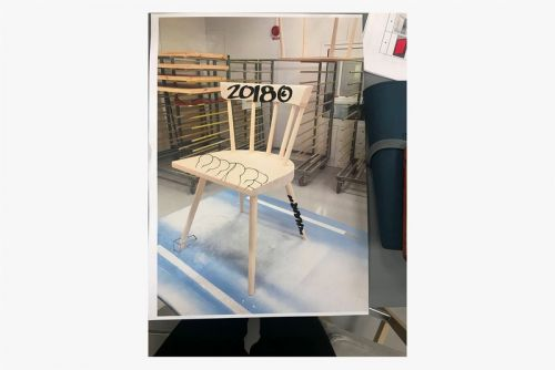 Virgil Abloh Auctions Custom MARKERAD Chair in Support of Black Lives
