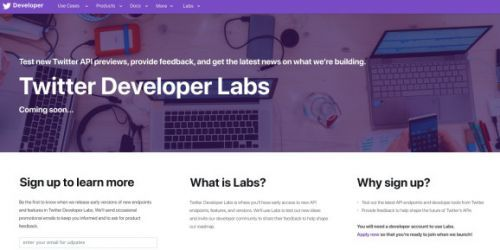 Twitter opens Developers Labs program to test new API products
