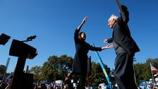 Alexandria Ocasio-Cortez Endorses Bernie Sanders At Comeback Rally In Queens