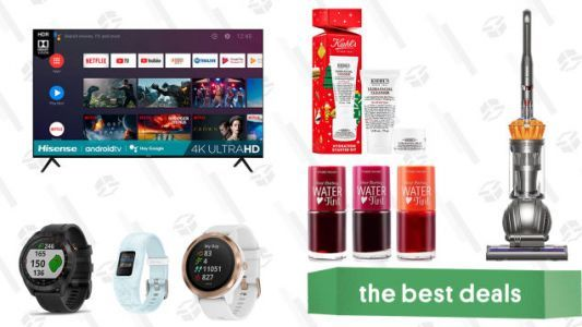 Sunday's Best Deals: 70-inch Hisense Android TV, Dyson Ball Upright Vacuum, Garmin GPS Devices, Kiehl's Ultra Skincare Duo, Etude House Water Tint, and More