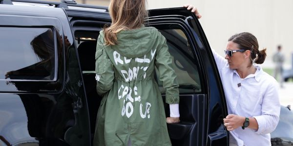 A Melania source explains the meaning behind the controversial 'I REALLY DON'T CARE, DO U?' jacket she wore on a trip to visit immigrant children
