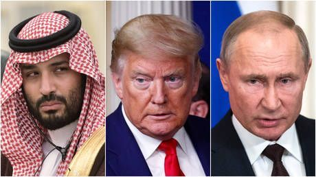 Tariffs ALWAYS an option! Trump hopes Russia & Saudis reach oil deal 'fair' for US as Putin seeks cooperation from ALL sides
