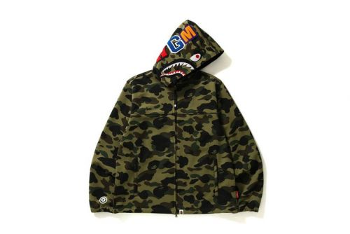 BAPE Infuses 1ST CAMO Shark Hoodie Jacket With WINDSTOPPER®