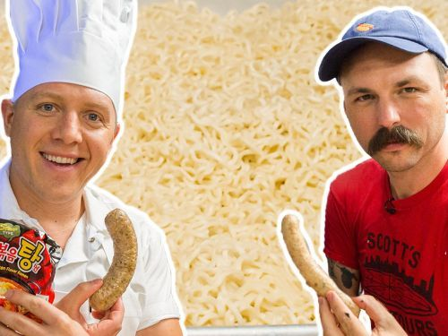 Watch: Can These Sausage Experts Pull Off Making Ramen Into Sausage?