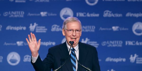 'Look how angry the left is': Mitch McConnell said the time since Trump became president has been the best in his 34 years in the Senate, and he plans to plow through more nominees
