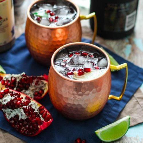 Pomegranate Champagne Moscow Mule