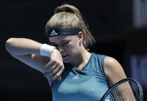 The Latest: No. 10 Kasatkina out in 1st round at Aussie Open