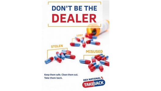 Don't be a drug dealer: Drop off unneeded pills this Saturday