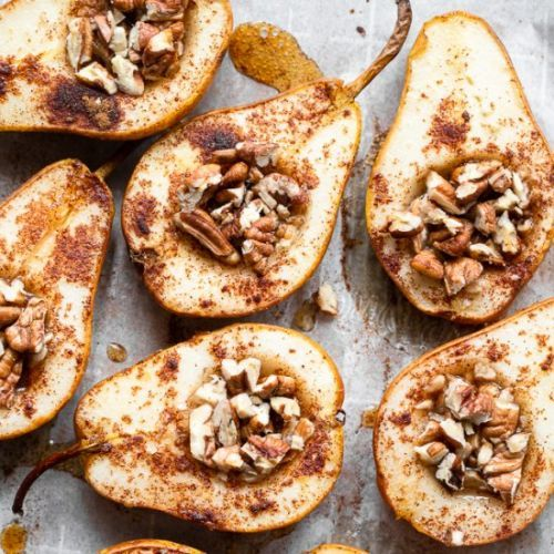 Whole Baked Pears with Honey