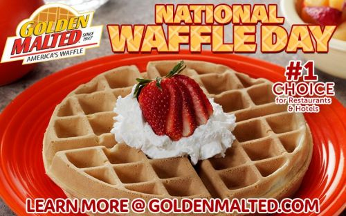 Celebrate National Waffle Day with America's Favorite Waffles - It's Easy with Golden Malted