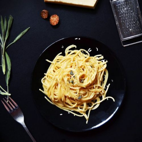 Pasta in sage butter sauce