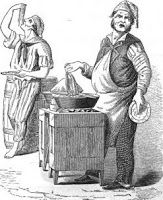 Macaroni sellers in Naples, Italy - 18th and 19th centuries