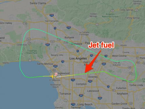 A plane returning to LAX dumped jet fuel on children at a nearby elementary school