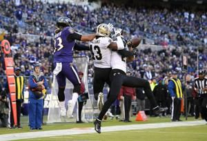 Brees comeback, missed XP gets Saints past Ravens 24-23