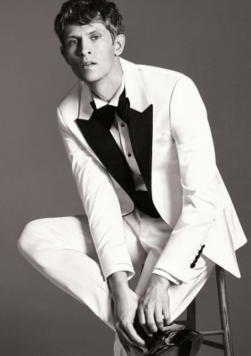 Mathias Lauridsen Dons Dashing Eveningwear for Zara