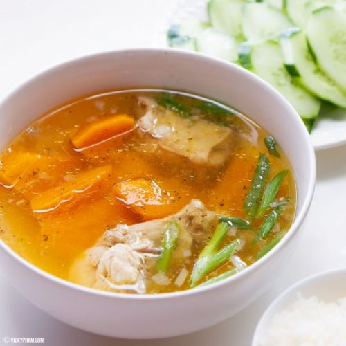 Kabocha Squash & Chicken Soup