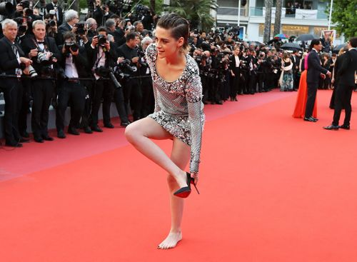 Kristen Stewart Isn't the First Woman to Break the Red Carpet Rules at Cannes