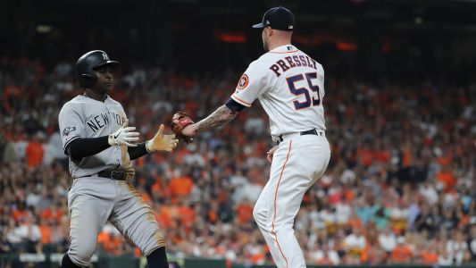 Astros' Ryan Pressly removed after one pitch during ALCS Game 6