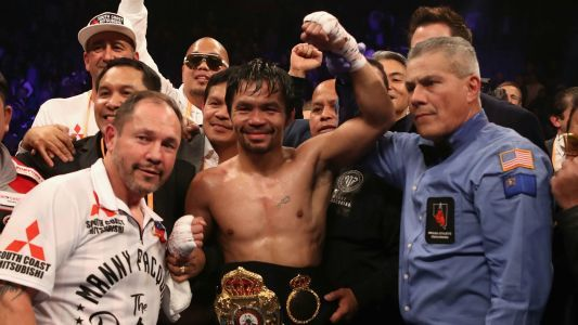 Manny Pacquiao wants Floyd Mayweather rematch after beating Adrien Broner