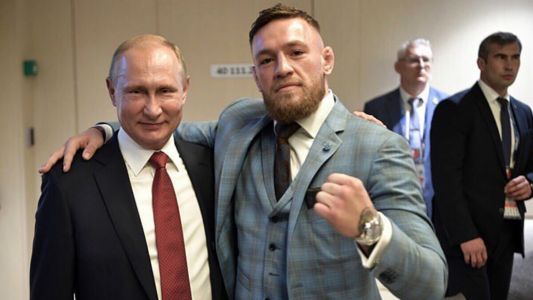 Conor McGregor praises Vladimir Putin after attending World Cup final