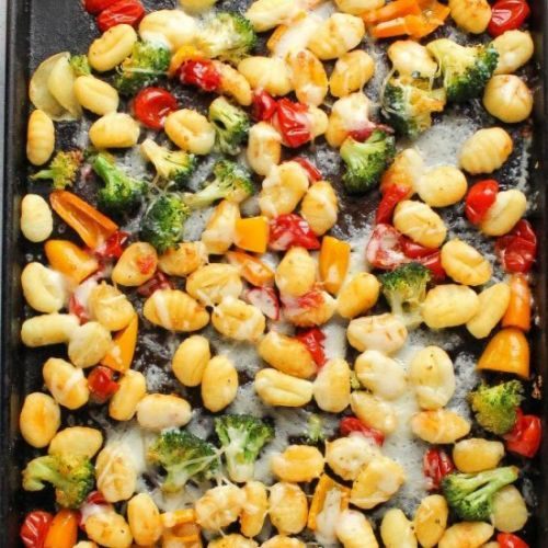 Sheet Pan Gnocchi with Vegetables