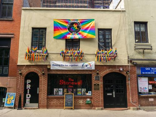 Why Is There a JetBlue Logo Plastered on the Stonewall Inn?