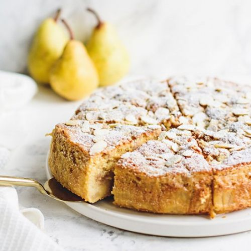 PEAR AND GINGER CRUMB CAKE