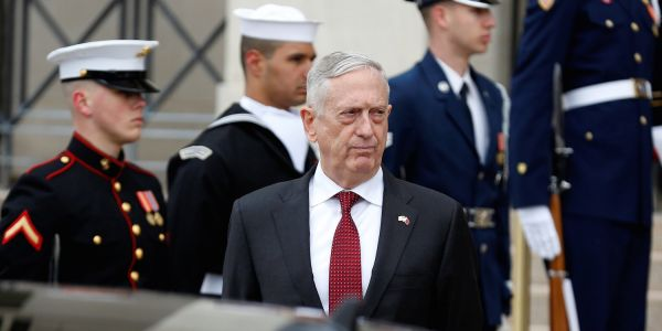 Increasingly isolated Mattis just got some more bad news