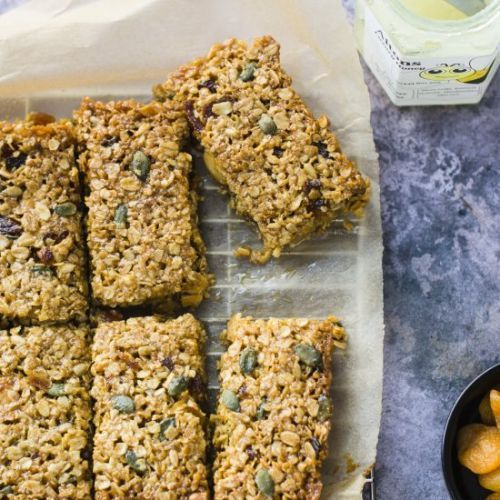 APRICOT, ALMOND & HONEY FLAPJACKS