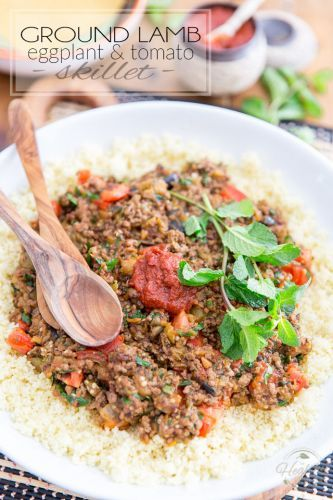 Ground Lamb Eggplant Tomato Skillet
