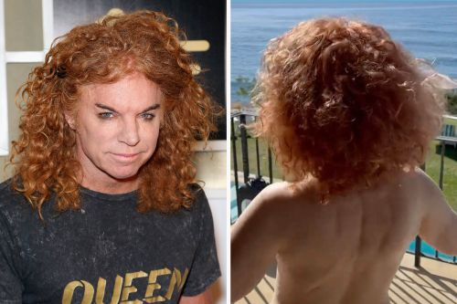 'Carrot Top' video is going viral -but it's really Kathy Griffin topless
