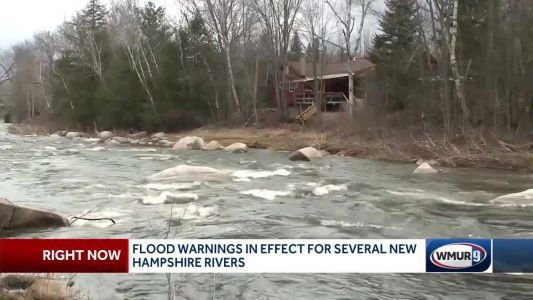 Flood warning in effect for several NH rivers