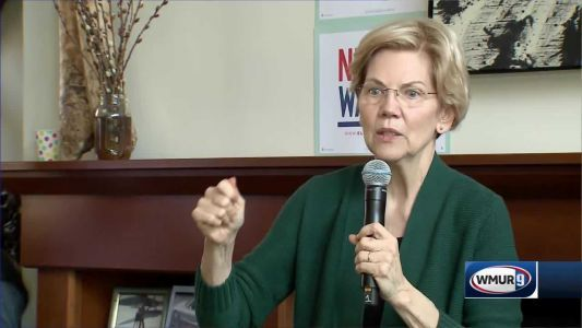Warren tells NH voters she wants to reduce influence of money in politics