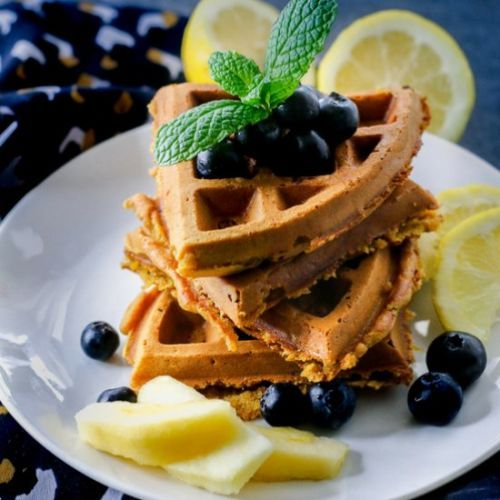 Lemon Nog Waffles