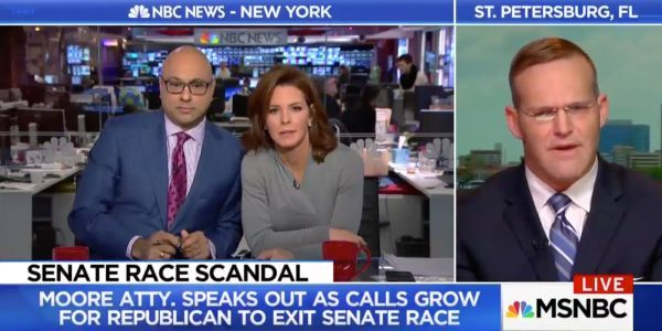 Roy Moore's lawyer says MSNBC host's 'background' would help him understand why Moore would date teenage women