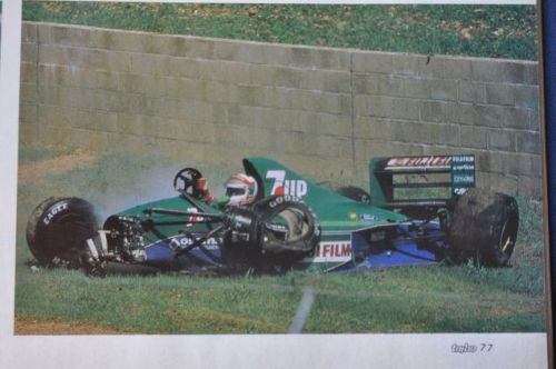 Are you feeling as wiped out this morning as poor old Andrea de Cesaris is here?