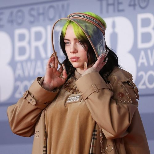 Billie Eilish wears a Burberry bonnet to the Brits