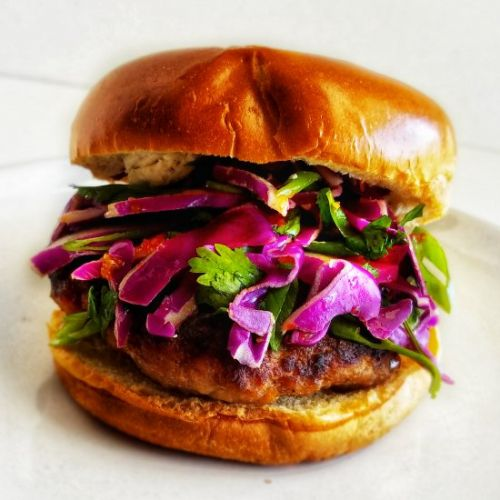 Sweet and Spicy Pork Burgers