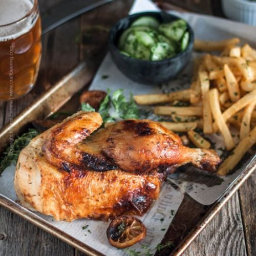 Beer Garden Roast Chicken