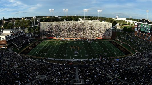 WATCH: Wake Forest kicker shows up late for FG attempt, then hits upright