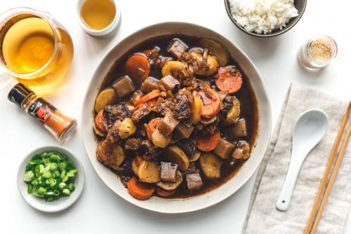 Nikujaga: Japanese Beef Stew Recipe and a Staub giveaway