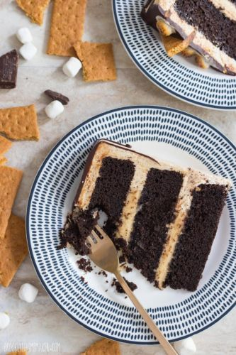 Layered S'Mores Cake
