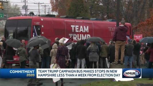 Team Trump campaign bus makes stops in New Hampshire, less than a week from Election Day