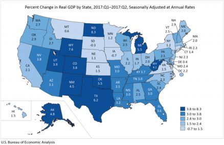 Gross Domestic Product by State: Second Quarter 2017