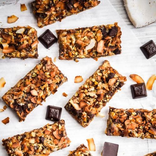 Toasted Coconut Magic Cookie Bars