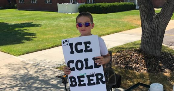 Utah Boy Sells 'ICE COLD BEER' With Genius Marketing Move