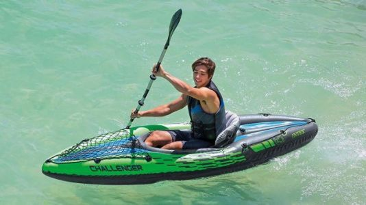 Dream of Warmer Weather These These Space-Efficient Inflatable Kayaks, Now Just $65 or Less
