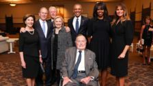4 Presidents, 4 First Ladies Pose For Photo At Barbara Bush Funeral