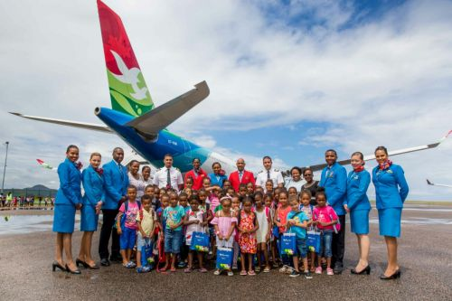 Air Seychelles Thrills 254 Schoolchildren With Full Aircraft Experience